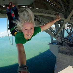 Auckland Harbour Bridge Bungy Child