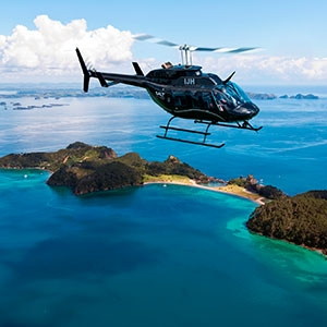 Bay of Islands helicopter flight